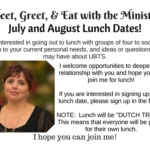 Meet, Greet, & Eat with the Minister